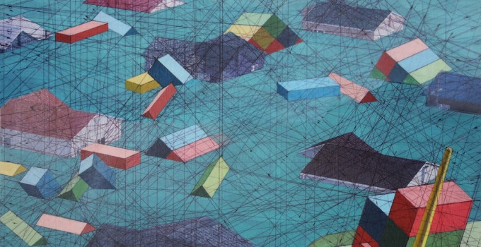 Settlement12-x-12-inches-acrylic-ink-found-photograph-on-panel-2014