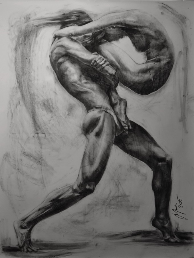 charcoal on paper 200 x 150 cm, year2015