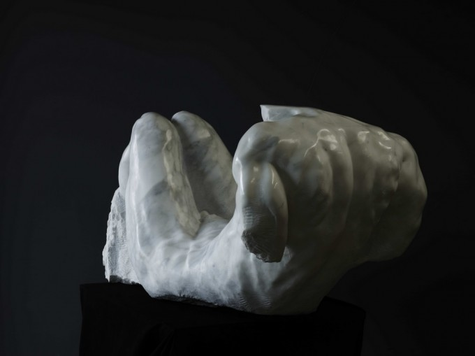 "White marble ""statuario"" of Carrara 63 cm x 65 cm x 150 cm 2009"