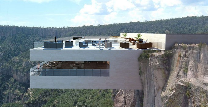 A Cantilevered Restaurant Overhangs Mexico's Copper Canyon