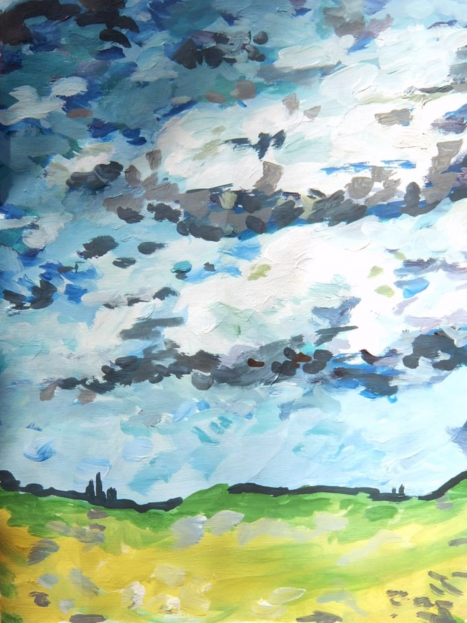 a sky scene with stormy clouds