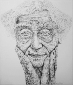 pencil on canvas by Ali Zülfikar