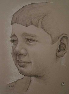Portrait, charcoal drawing, atelier, connor maguire, conor maguire