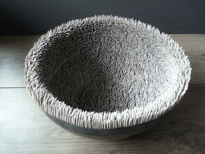 Geode bowl.Lisa Biris Ceramics