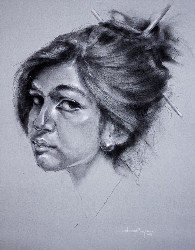 Portrait by Mahmood Hayat
