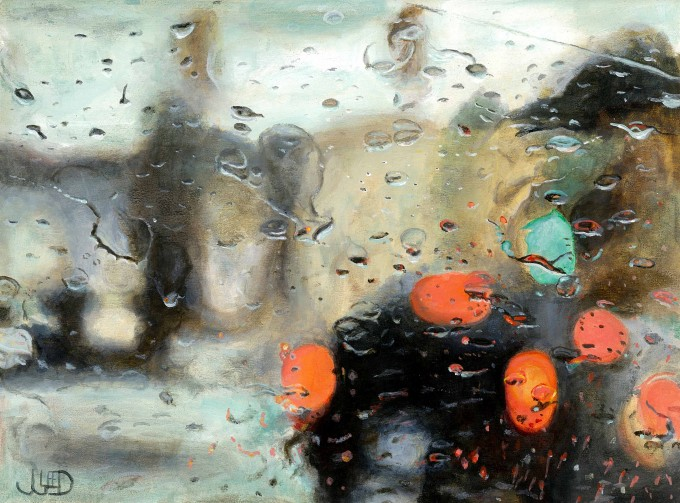 """Water On Gler"" by Jonathan Gleed,Emotionally evocative paintings of everyday modern life, by Jonathan Gleed."