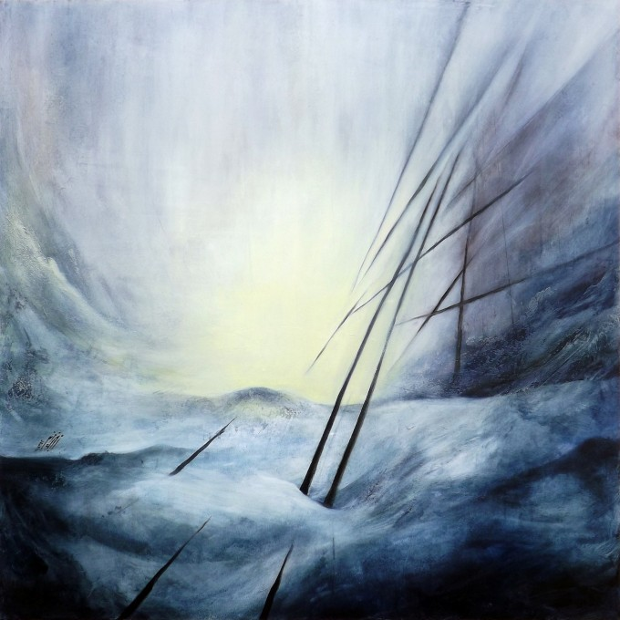 Nowhere-I - Oil on wood - 100x100 cm
