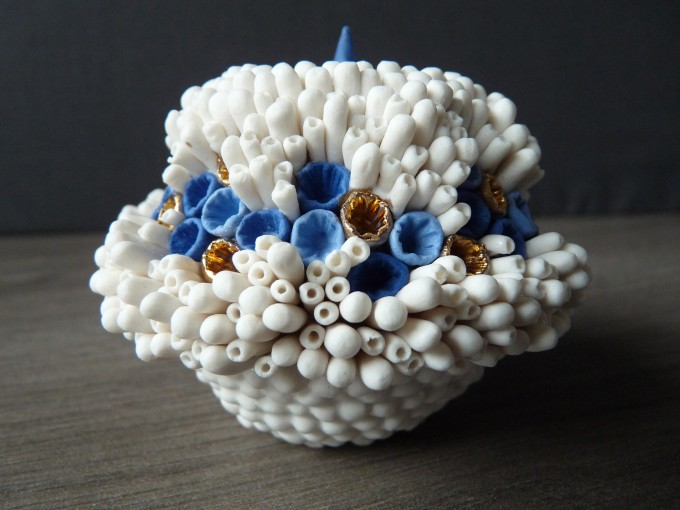 Coral jar.Lisa Biris Ceramics