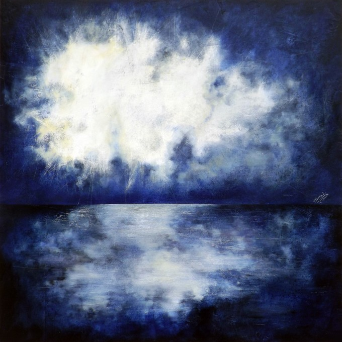 Reflection - Oil on wood - 100x100 cm