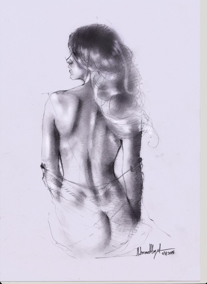Drawings by Mahmood Hayat
