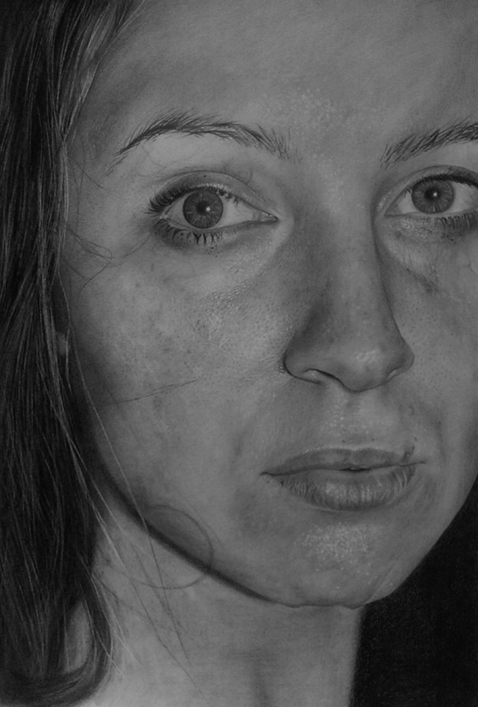 """Self-Portrait"" A2 Graphite"
