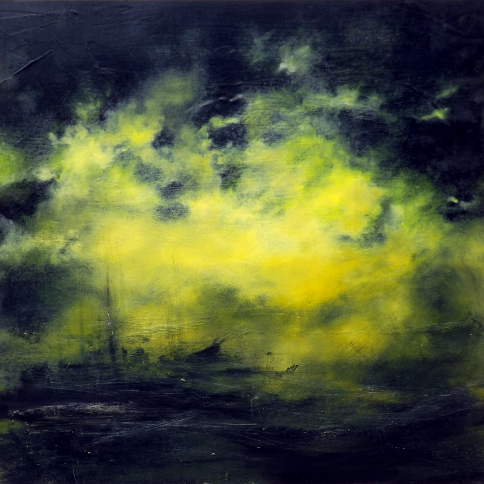 TOXIC - Oil on wood - 100x100 cm
