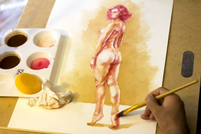Figurative Watercolors by Mahmood Hayat