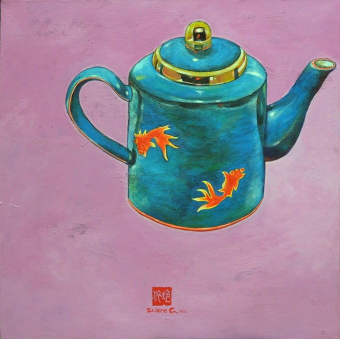 Teatime with Warhol 2012 by Elaine Chang