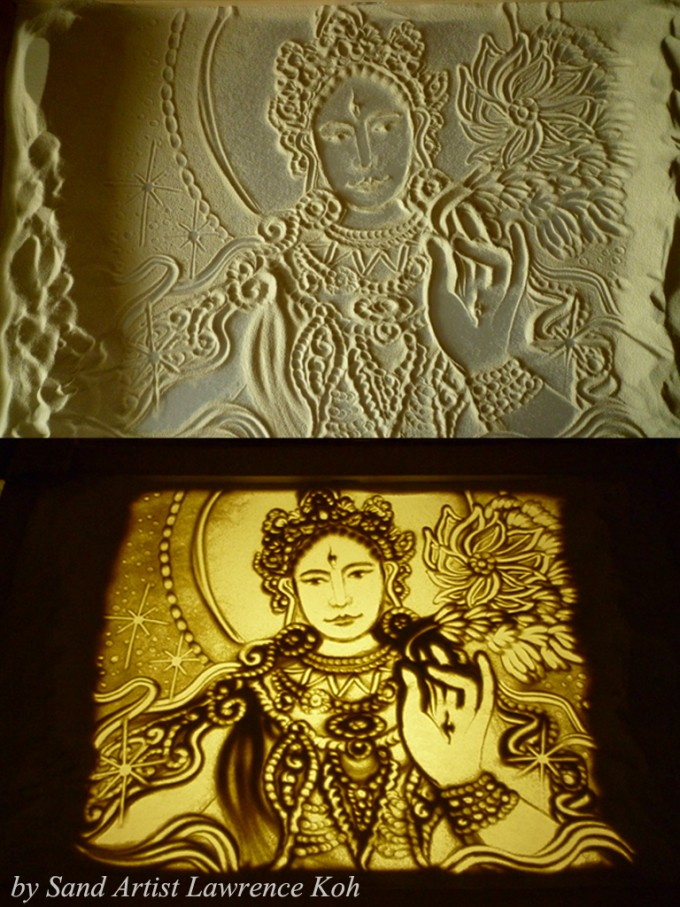sand art by sand artist lawrence koh from singapore