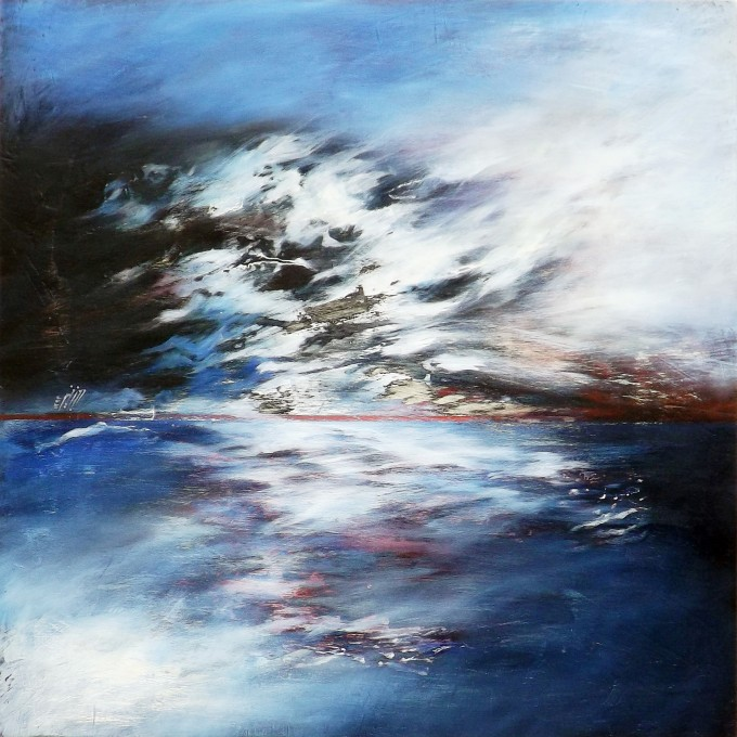 Wild is the wind - Mixed media on wood - 70x70 cm