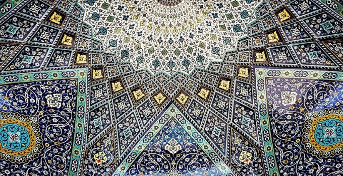 Architectural details of ceilings in iran