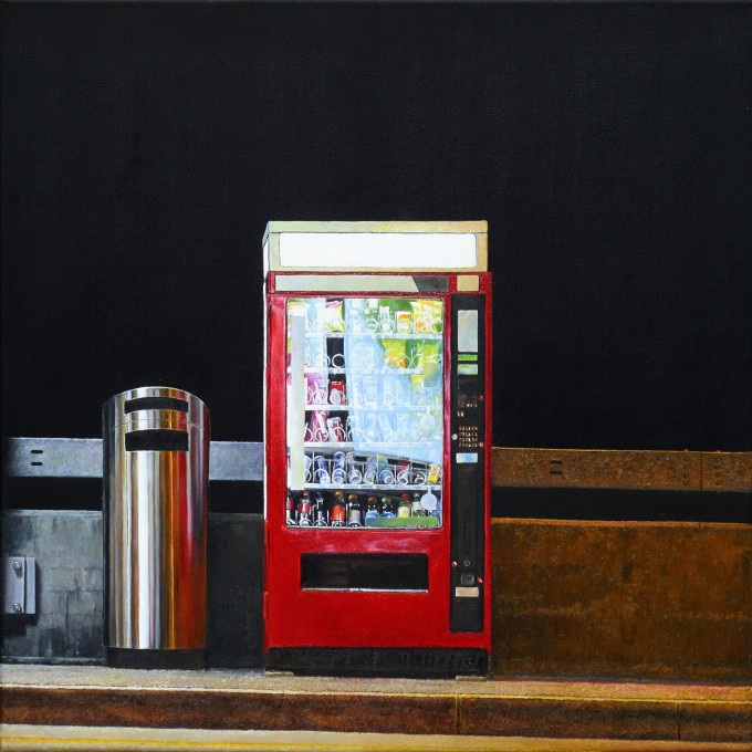 oil painting, hyperrealism, eberle, city