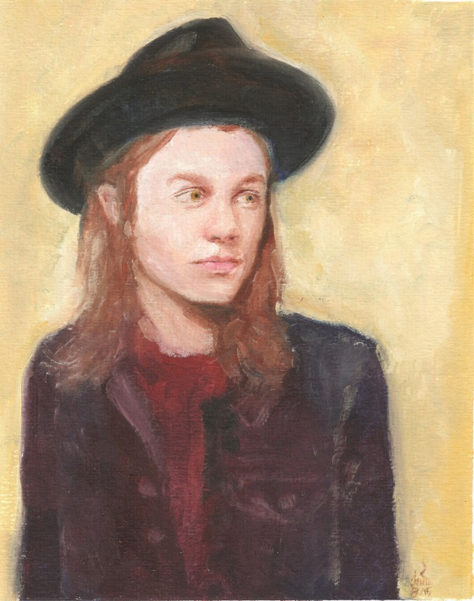 English musicial James Bay with hat