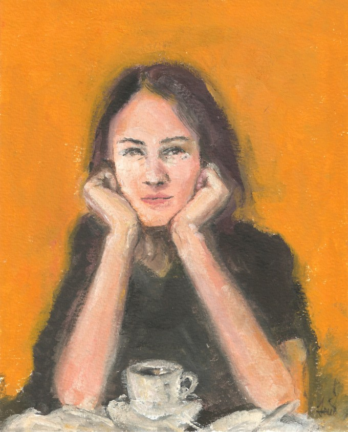 portrait painting inspired by a blind girl