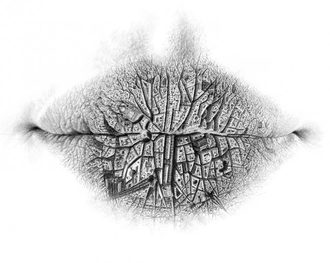 "Lips Series 2.10 - Aspiration 2010, pencil on paper, 19.8"" x 25.6"",Lips Series by Christo Dagorov #artpeople"