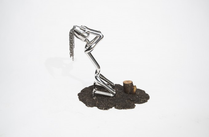 REQUIEM FOR A TREE.Sculptures Made From Stainless Steel Pipes by İskender Giray #artpeople