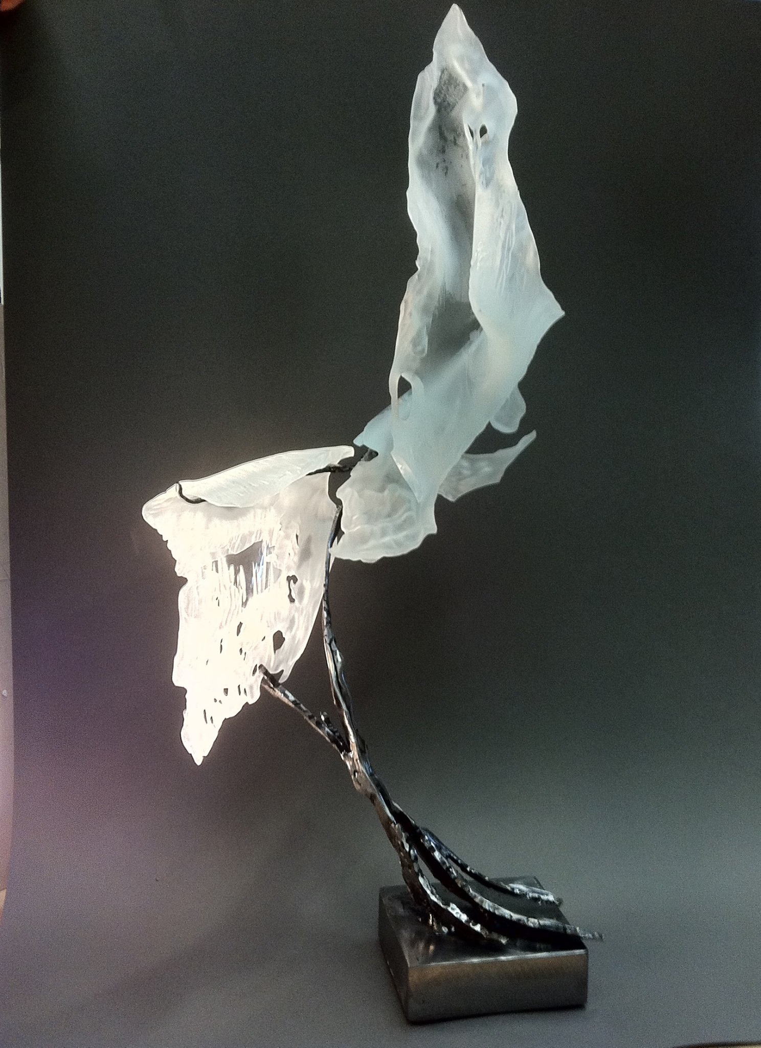Etched glass sculpture art people gallery