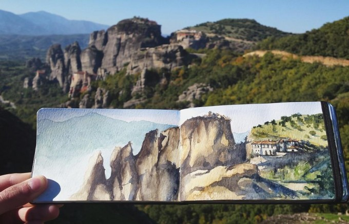 Up at the Meteora rocks (Greece)