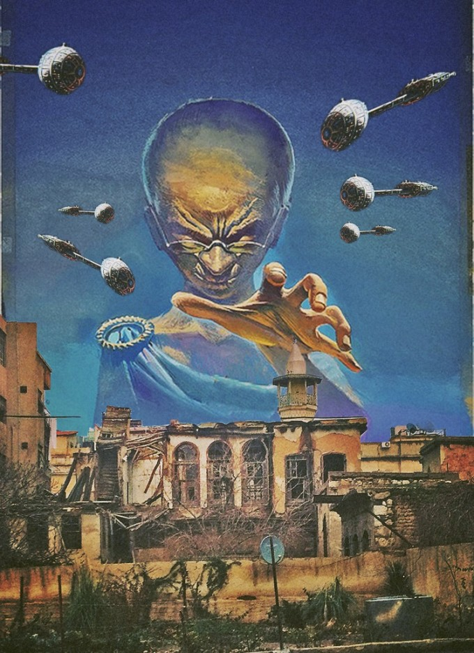 Surreal Mixed Media Collage Art By Ayham Jabr