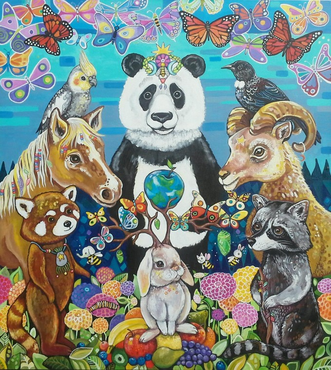 A coming together of spirit animals to find ways to heal and transform the earth
