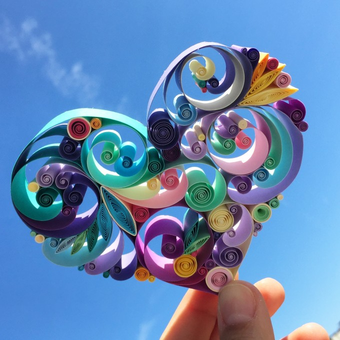 Love is all around,Sena Runa | Quilled Paper Art