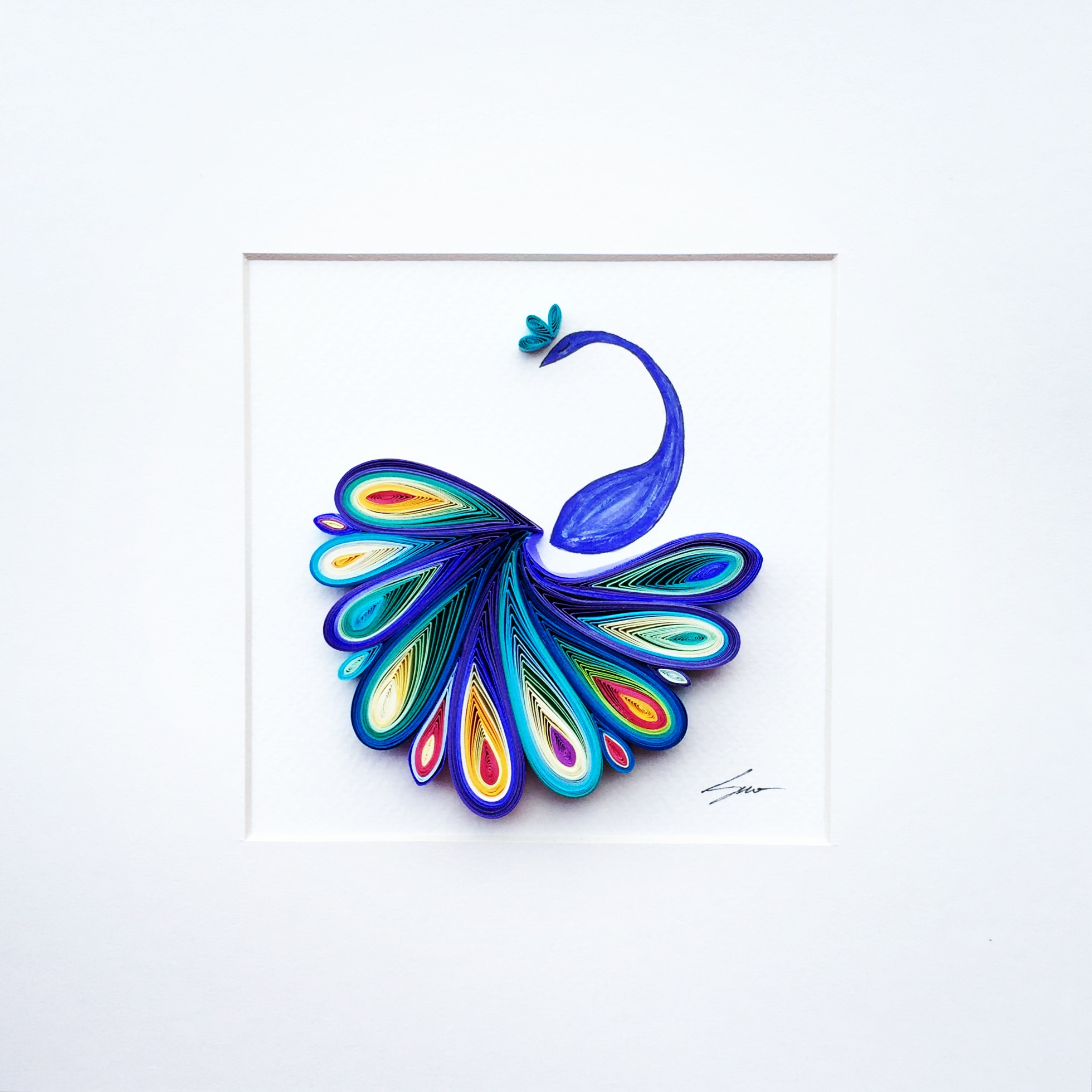 Sena runa quilled paper art art people gallery for Quilling paper art