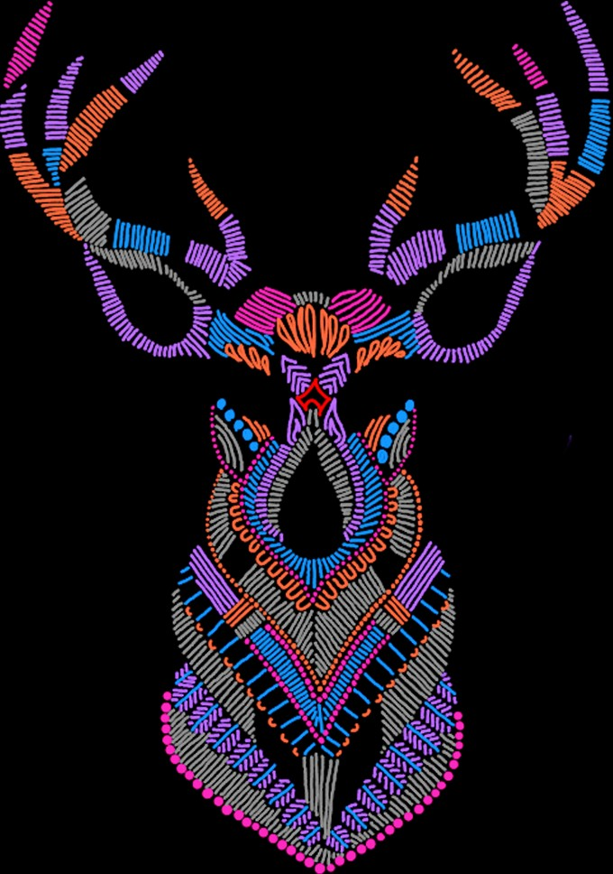 This is a zentangle art created using reptitive patterns, entirely hand drawn on a smartphone using a stylus.