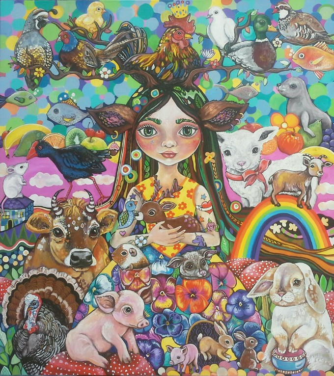 An Earth Goddess who protects the vulnerable animals - those who are eaten, hunted and tested on