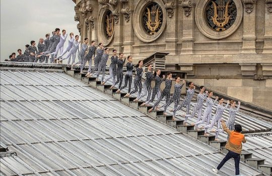 JR Rooftop Dancers in Paris