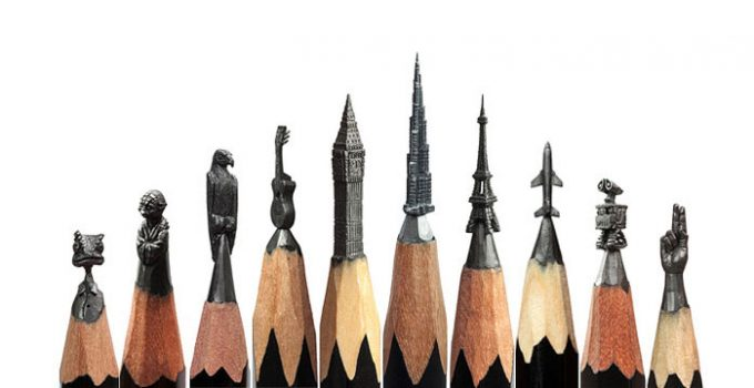 Pencils Miniature Sculptures-Salavat Fidai