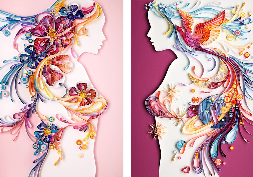 Yulia Brodskaya PaperGraphic Art People Gallery - Vibrant paper illustrations sculptures yulia brodskaya
