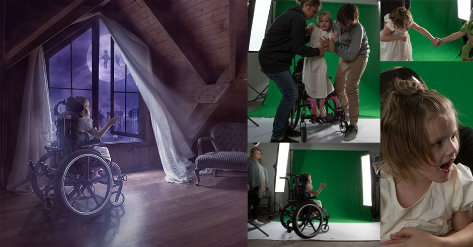 Disabled Children Given Wings to Fly by Photoshop Artist