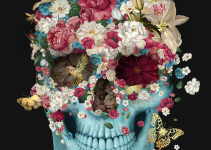 Skull Flowers by Francisco Valle.