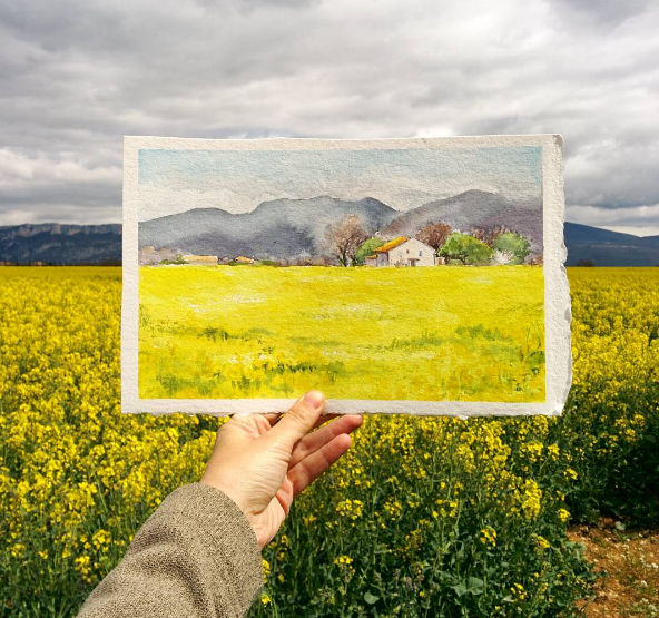Combine Painting & Photography by Elena Efremova #artpeople