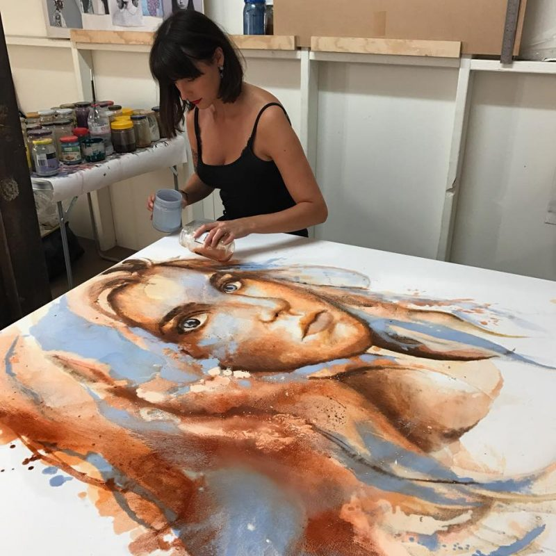 Johanna Wilbraham Fine Art - Pouring the Portrait