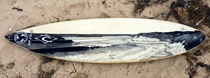 Bells Beach,Old surfboards given new life as artwork