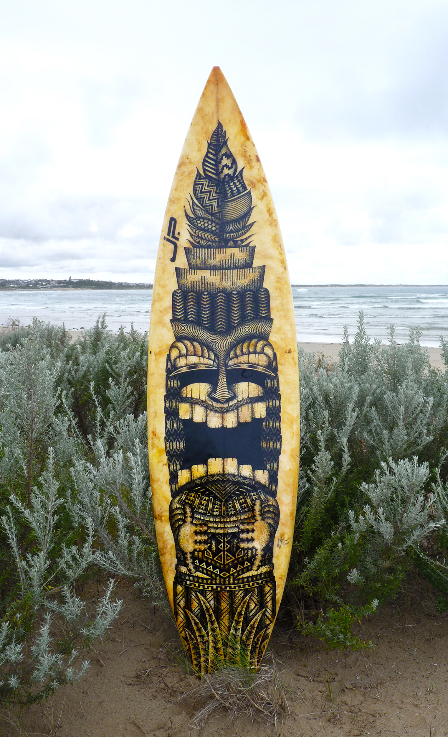 Old Surfboards Given New Life As Artwork Art People Gallery
