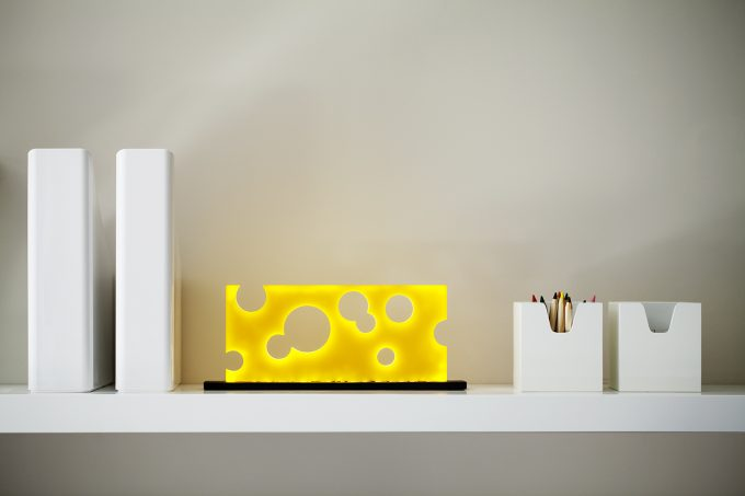 Swiss cheese lamps - the first lamp of the series