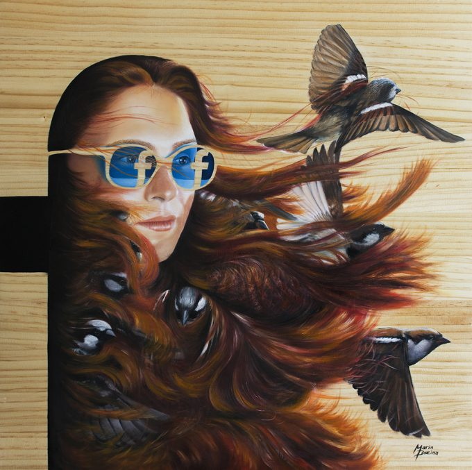 Oil painting on wood