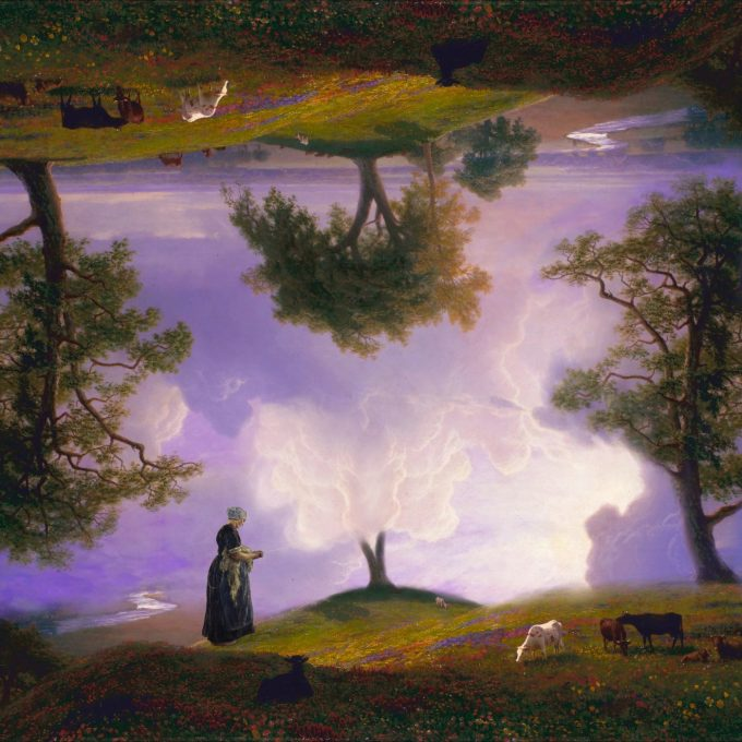 "Cotton Cloud Tree digital collage by iuri kothe date started: 20160711 date finished: 20160714 size: 3600 x 3600 pixels (@ 300dpi = 12 inch or 30cm or vinyl size) sources: [background] Albert Bierstadt - California Spring [1875] https://commons.wikimedia.org/wiki/File:Albert_Bierstadt_-_California_Spring_-_Google_Art_Project.jpg [lady] Max Liebermann - Flachsscheuer in Lare [1887] https://commons.wikimedia.org/wiki/File:Max_Liebermann_-_Flachsscheuer_in_Laren_-_Google_Art_Project.jpg made with Apple iPad Pro 12.9"" 2015 / Apple Pencil / Pixelmator app"