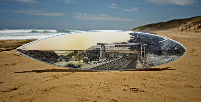 Great Ocean Road Memorial Arch,Old surfboards given new life as artwork,#artpeople