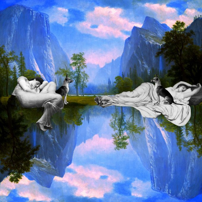 "Sleep digital collage by iuri kothe date started: 20160611 date finished: 20160619 size: 3600 x 3600 pixels (@ 300dpi = 12 inch or 30cm or vinyl size) source: [background] Albert Bierstadt - Looking Up the Yosemite Valley [c. 1863-75] http://hagginmuseum.org/Collections/AlbertBierstadt/LookingUptheYosemiteValley [dog] iuri kothe - photo of a dog (lua?) in Martins de Sá / Paraty, Brazil [14/8/2015] [sleeping woman orange dress left] Flaming June, by Frederic Lord Leighton [1895] https://en.m.wikipedia.org/wiki/File:Flaming_June,_by_Frederic_Lord_Leighton_(1830-1896).jpg [sleeping woman in white right] Lord Frederic Leighton - Cymon and Iphigenia [1884]: https://en.m.wikipedia.org/wiki/File:Lord_Frederic_Leighton_-_Cymon_and_Iphigenia_-_Google_Art_Project.jpg made with Apple iPad Pro 12.9"" 2015 / Apple Pencil / Pixelmator app"