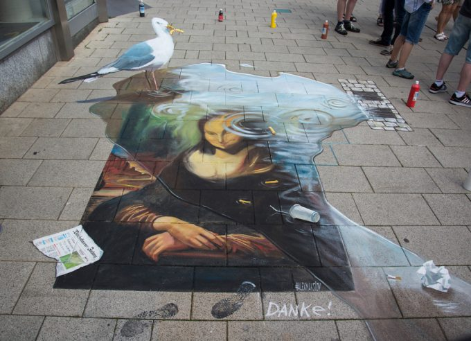 Mural envy by ukrainian artist alex maksiov in drammen for 3d street painting mural art