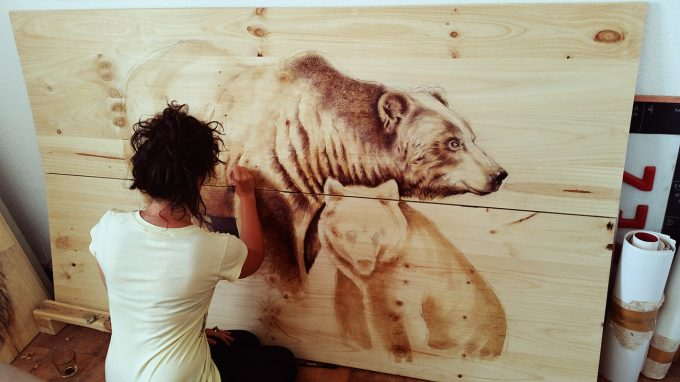 ososstudio,Martina Billi - Drawings on wood